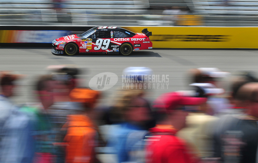 May 2, 2008; Richmond, VA, USA; NASCAR Sprint Cup Series driver Carl Edwards during practice for the Dan Lowry 400 at the Richmond International Raceway. Mandatory Credit: Mark J. Rebilas-