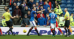 Lee Wallace not happy with the linesman