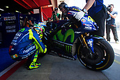 June 10th 2017,  Barcelona Circuit, Montmelo, Catalunya, Spain; MotoGP Grand Prix of Catalunya, qualifying day; Valentino Rossi of Movistar Yamaha MotoGP before the Qualifying session