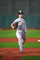Kane County Cougars pitcher Josh Taylor (21) delivers a pitch during a game against the Cedar Rapids Kernels on August 18, 2015 at Perfect Game Field in Cedar Rapids, Iowa.  Kane County defeated Cedar Rapids 1-0.  (Mike Janes/Four Seam Images)
