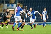 3rd October 2017, Ewood Park, Blackburn, England; Football League Trophy Group stage, Blackburn Rovers versus Bury; Blackburns Danny Graham closes in for a tackle