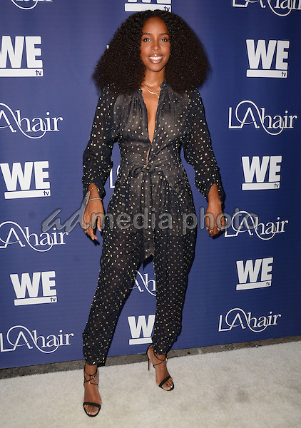 "14 July 2015 - Hollywood, California - Kelly Rowland. Arrivals for WE Tv's ""L.A. Hair"" premiere party held at Avalon Hollywood. Photo Credit: Birdie Thompson/AdMedia"
