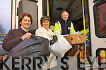 The Kerry Branch of the Irish Red Cross are calling on Kerry people to donate to flood victims around the country..Pictured at Kerry County Council headquarters are Kerry County Council staff Catherine O'Carroll, Assistant Staff Officer with Coporate affairs, Norma Pollard and Charlie Hartnett Irish Red Cross Area Director Unit in Kerry collecting items at council headquarters last week.