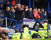 Gillingham Manager Steve Evans issues instructions during Portsmouth vs Gillingham, Sky Bet EFL League 1 Football at Fratton Park on 12th October 2019