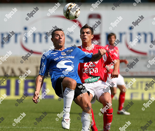 2009-05-31 / Voetbal / R. Antwerp FC - FC Dender / Eric Deflandre (L, Dender) met Zarko Jelicic...Foto: Maarten Straetemans (SMB)