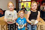 Learning to do their pottery at the Culture night in Siamsa Tire on Friday.  <br /> L to r: Gearoid and Maisie Somers and Sinead Leahy all from Listowel.