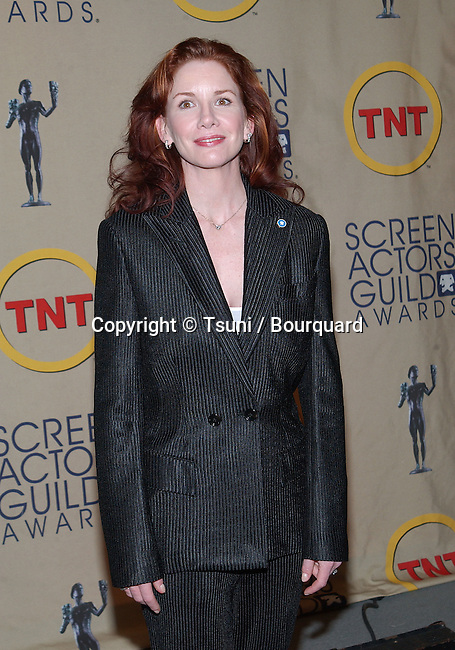 Melissa Gilbert, president of the SAG at the 2002 nominations for the 8th annual SAG Awards at the Screen Room Theatre at the Pacific Design Center in Los Angeles. January 29, 2002.           -            GilbertMelissa_SAGpres_13.jpg