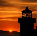 Lime Kiln Lighthouse, Washington. San Juan Island. Friday Harbor. 1919