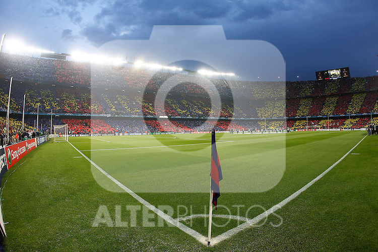 FC Barcelona's supporters during UEFA Champions League match.May 3,2011.(ALTERPHOTOS/Acero)