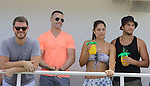 Jeff Branson, John Driscoll, Kelly Thiebaud, Bryan Craig donated their time at 15th Southwest Florida Soapfest 2014 Charity Weekend - at Cruisin' and Schmoozin' on May 25, 2104 aboard the Marco Island Princess (boat), Marco Island, Florida.  (Photo by Sue Coflin/Max Photos)