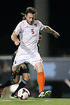 08 October 2013: Clemson's Thomas McNamara. The University of North Carolina Tar Heels hosted the Clemson University Tigers at Fetzer Field in Chapel Hill, NC in a 2013 NCAA Division I Men's Soccer match. Clemson won the game 2-1 in overtime.