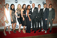 NEW YORK, NY - SEPTEMBER 24: Samantha Logan, Helena Mattsson, Mercedes Masohn and Vanessa Williams with Terry O'Quinn, Dave Annable, Robert Buckley and Erik Palladino at the premiere screening  of  ABC TV series  666 Park Avenue at the Crosby Street Hotel in New York City. © RW/MediaPunch Inc.