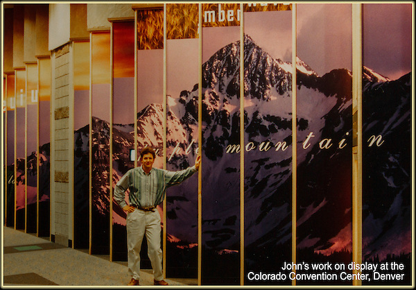 John Kieffer's landscape photography on display, Colorado Convention Center, Denver.