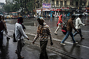 Pedestrians in Kolkata, West Bengal, India.
