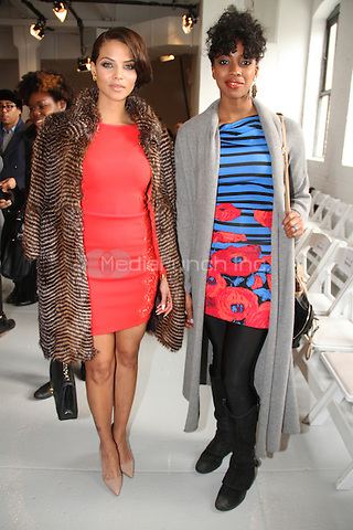 NEW YORK, NY - FEBRUARY 09: Actress Condola Rashad, Denise Vasi attends the Tracy Reese show during Mercedes-Benz Fashion Week Fall 2014 at Center 548 on February 9, 2014 in New York City. Photo Credit: Walik Goshorn/MediaPunch
