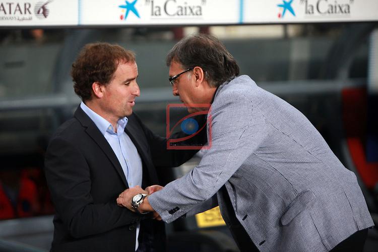 League BBVA 2013/2014 - Game: 06.<br /> 2013-09-24: FC Barcelona vs R. Sociedad: 4-1.<br /> Jagoba Arrasate &amp; Tata Martino.