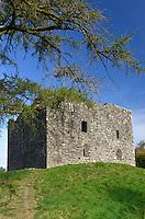 Lydford Castle in the Dartmoor village of Lydford, Devon