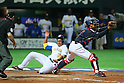 (L to R) .Leonardo Reginatto (BRA), .Ryoji Aikawa (JPN), .MARCH 2, 2013 - WBC : .2013 World Baseball Classic .1st Round Pool A .between Japan 5-3 Brazil .at Yafuoku Dome, Fukuoka, Japan. .(Photo by YUTAKA/AFLO SPORT) [1040]