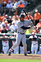 Detroit Tigers outfielder Daniel Fields (29) during a Spring Training game against the Baltimore Orioles on March 4, 2015 at Ed Smith Stadium in Sarasota, Florida.  Detroit defeated Baltimore 5-4.  (Mike Janes/Four Seam Images)
