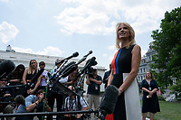 Kellyanne Conway speaks to reporters on July 25, 2019. Photo Credit: Jim Bourg/CNP/AdMedia