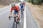 Vincenzo Nibali (ITA) Bahrain-Merida from the breakaway group during Stage 11, the longest of this year's race, of the La Vuelta 2018, running 207.8km from Mombuey to Ribeira Sacra. Luintra, Spain. 5th September 2018.<br /> Picture: Unipublic/Photogomezsport | Cyclefile<br /> <br /> <br /> All photos usage must carry mandatory copyright credit (&copy; Cyclefile | Unipublic/Photogomezsport)