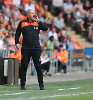 Blackpool manager Terry McPhillips shouts instructions to his team from the dug-out <br /> <br /> Photographer Stephen White/CameraSport<br /> <br /> The EFL Sky Bet League One - Blackpool v Fleetwood Town - Monday 22nd April 2019 - Bloomfield Road - Blackpool<br /> <br /> World Copyright © 2019 CameraSport. All rights reserved. 43 Linden Ave. Countesthorpe. Leicester. England. LE8 5PG - Tel: +44 (0) 116 277 4147 - admin@camerasport.com - www.camerasport.com<br /> <br /> Photographer Stephen White/CameraSport<br /> <br /> The EFL Sky Bet Championship - Preston North End v Ipswich Town - Friday 19th April 2019 - Deepdale Stadium - Preston<br /> <br /> World Copyright © 2019 CameraSport. All rights reserved. 43 Linden Ave. Countesthorpe. Leicester. England. LE8 5PG - Tel: +44 (0) 116 277 4147 - admin@camerasport.com - www.camerasport.com