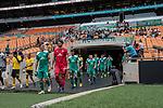 06.01.2019, FNB Stadion/Soccer City, Nasrec, Johannesburg, RSA, FSP, SV Werder Bremen (GER) vs Kaizer Chiefs (ZA)<br /> <br /> im Bild / picture shows <br /> Max Kruse (Werder Bremen #10) Kapit&auml;n / mit Kapit&auml;nsbinde, Stefanos Kapino (Werder Bremen #27), Sebastian Langkamp (Werder Bremen #15), beim Einlaufen der Mannschafen, <br /> <br /> Foto &copy; nordphoto / Ewert