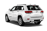 Car pictures of rear three quarter view of 2018 JEEP Grand-Cherokee Overland 5 Door SUV Angular Rear