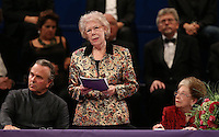 PICTURE BY VAUGHN RIDLEY/SWPIX.COM - Leeds International Piano Competition 2012 - Leeds Town Hall, Leeds, England - 15/09/12 - Sir Mark Elder, Dame Janet Baker and Dame Fanny Waterman.