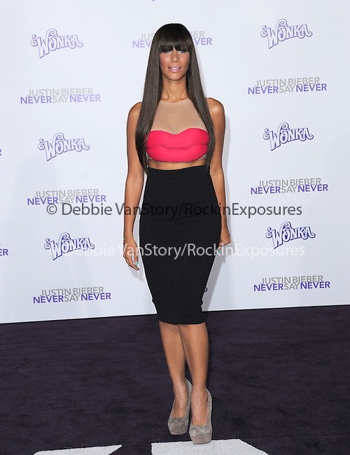 """Leona Lewis attends the Paramount Pictures' L.A. Premiere of """"JUSTIN BIEBER: NEVER SAY NEVER."""" held at The Nokia Theater Live in Los Angeles, California on February 08,2011                                                                               © 2010 DVS / Hollywood Press Agency"""