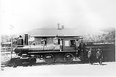 D&amp;RG #92 &quot;Mogollon&quot; built in 1880. Baldwin Locomotive Works #5118 1880 Sanford &amp; St. Petersburg #12, ACL #801, #1801, Sanford Manufacturing.<br /> D&amp;RG  Veta Pass, CO  ca 1895