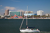 Sailing In Rainbow Harbor And Marina Long Beach