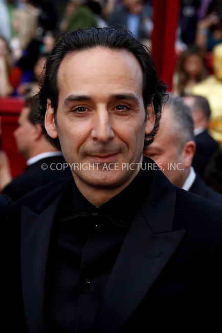 WWW.ACEPIXS.COM . . . . .  ....March 7 2010, Hollywood, CA....Musician Alexandre Desplat at the 82nd Annual Academy Awards held at Kodak Theatre on March 7, 2010 in Hollywood, California.....Please byline: Z10-ACE PICTURES... . . . .  ....Ace Pictures, Inc:  ..Tel: (212) 243-8787..e-mail: info@acepixs.com..web: http://www.acepixs.com