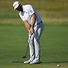 Dustin Johnson putts on the 3rd Hole during a practice round prior to the U.S. Open Championship at Shinnecock Hills Golf Club in Southampton on Tuesday, June 12, 2018.