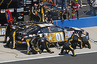 Apr 29, 2007; Talladega, AL, USA; Nascar Nextel Cup Series driver Regan Smith (01) pits during the Aarons 499 at Talladega Superspeedway. Mandatory Credit: Mark J. Rebilas