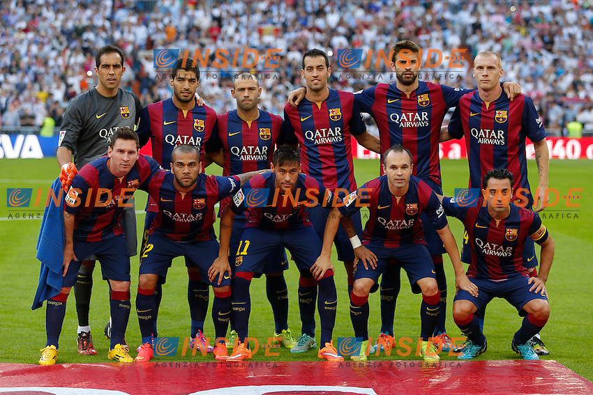 Barcelona&acute;s initial players during La Liga match between Real Madrid and F.C. Barcelona in Santiago Bernabeu stadium in Madrid, Spain. October 25, 2014. (ALTERPHOTOS/Victor Blanco) <br /> Clasico<br /> Foto Insidefoto