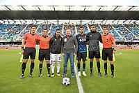 San Jose, CA - Saturday June 09, 2018: Feilhaber, Chris Wondolowski, Hilario Grajeda during a Major League Soccer (MLS) match between the San Jose Earthquakes and Los Angeles Football Club at Avaya Stadium.