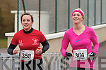 Completing the first of the runs in the Valentia Duathlon on Saturday were local girls Ann Marie Coleman & Ann Marie Foran.
