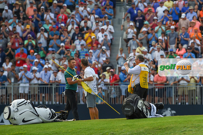 Brooks Koepka (USA) celebrates winning the 100th PGA Championship at Bellerive Country Club, St. Louis, Missouri. 8/12/2018.<br /> Picture: Golffile | Ken Murray<br /> <br /> All photo usage must carry mandatory copyright credit (© Golffile | Ken Murray)