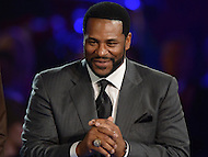Canton, Ohio - August 6, 2015: Former NFL player Jerome Bettis is introduced with the Class of 2015 inductees before donning his gold jacket for the first time during the 2015 Pro Football Hall of Fame enshrinement dinner in Canton, Ohio August 6, 2015. With eight 1,000 plus yard seasons, Bettis was tied for third-best in NFL history and his 13,662 career rushing yards ranked him fifth all-time. (Photo by Don Baxter/Media Images International)