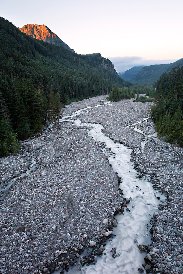 Nisqually River, Mount Rainier National Park, Washington, USA