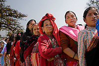 Women where a clear majority in the statistics during the polls. April 10th 2008 the historic Consistuent assembly elections took place in Nepal, putting an end to a centuries of monarchy. The assembly will form a new constitution and abolish the monarchy and King Gyanendras rule. The big question remains if the new maoist led government will be a positive or a negative factor in a country that recently emerged from a decade of civilwar. Photo: Christopher Olssøn.