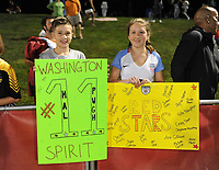 Boyds, MD - Saturday August 26, 2017: Fans during a regular season National Women's Soccer League (NWSL) match between the Washington Spirit and the Chicago Red Stars at Maureen Hendricks Field, Maryland SoccerPlex.