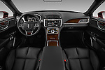 Stock photo of straight dashboard view of 2017 Lincoln Continental Reserve 4 Door Sedan Dashboard