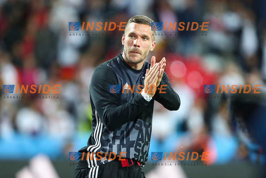 Lukas Podolski (Germany)  <br /> Lille 12-06-2016 Stade Pierre Mauroy Football Euro2016 Germany - Ukraine / Germania - Ucraina Group Stage Group C. Foto Gwendoline Le Goff / Panoramic / Insidefoto