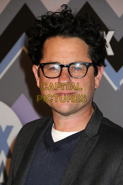 J.J. Abrams, JJ Abrams.FOX All-Star Party TCA Winter 2013 Press Tour held at the Langham Huntington Hotel and Spa, Pasadena, California, USA..January 8th, 2013.headshot portrait white black blue glasses   .CAP/ADM/BP.©Byron Purvis/AdMedia/Capital Pictures.