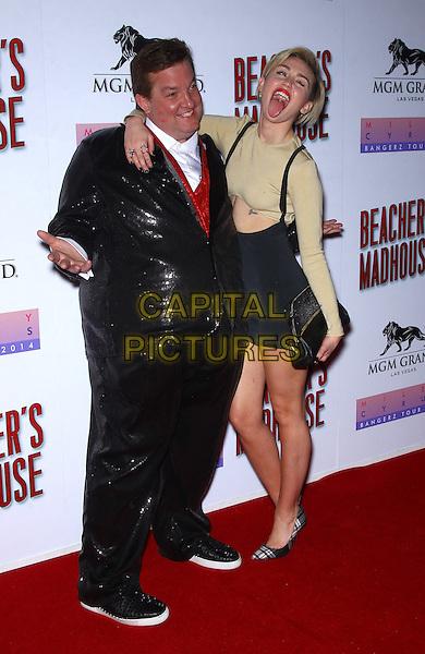 27 December 2013 - Las Vegas, NV -  Jeff Beacher, Miley Cyrus. Miley Cyrus hosts The Premiere of Beacher's Madhouse Las Vegas at MGM Grand Hotel and Casino.<br /> CAP/ADM/MJT<br /> &copy; MJT/AdMedia/Capital Pictures
