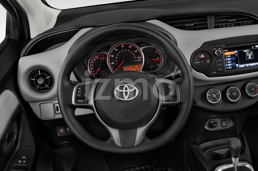 Car pictures of steering wheel view of a 2018 Toyota Yaris L 3-Door Liftback 3 Door Hatchback