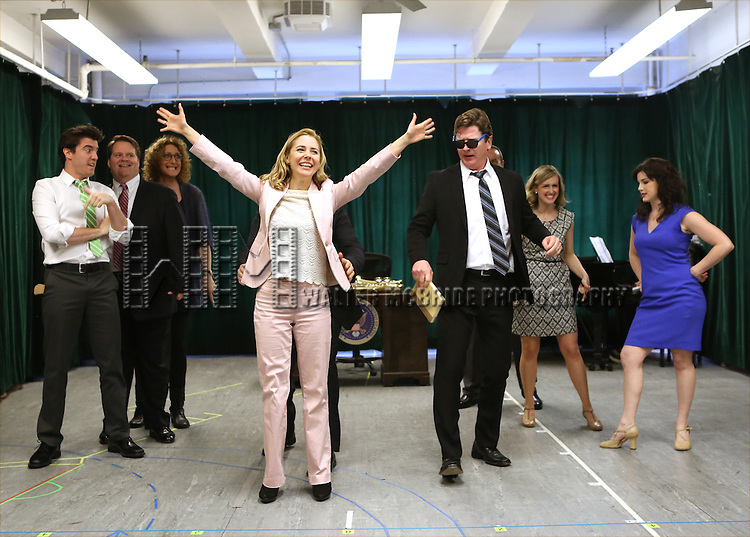 Kerry Butler with the cast during the 'Clinton The Musical' - Sneak Peek at Ripley Grier Studios on March 4, 2015 in New York City.