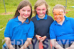 Pupils at Scoil Mhuire agus Naomh Treasa enjoying a fun day at the school last week to raise funds for cancer research. .L-R Grace Daly, Ciara Sheehan and Cait O'Mahony